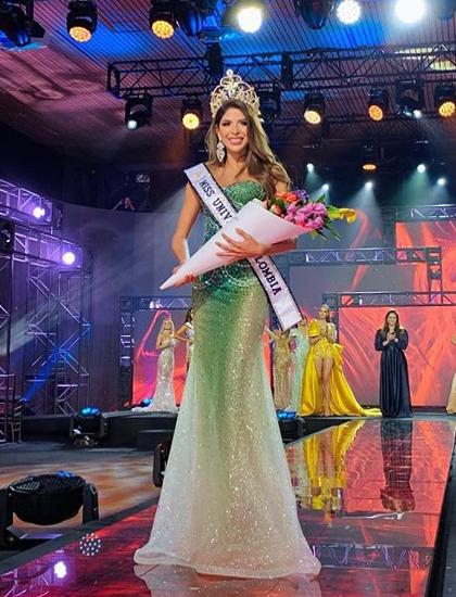 Laura Olascuaga Pinto đăng quang Miss Universe Colombia 2020. Ảnh: MUC.