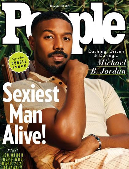 Michael B. Jordan trên bìa ấn phẩm Sexiest Man Alive 2020. Ảnh: People.