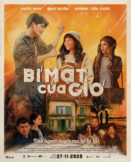 Poster Bí mật của gió.  Phim có kịch bản tập trung vào mảng tình cảm, còn yếu tố kinh dị chỉ là phụ. Ảnh: BHD.