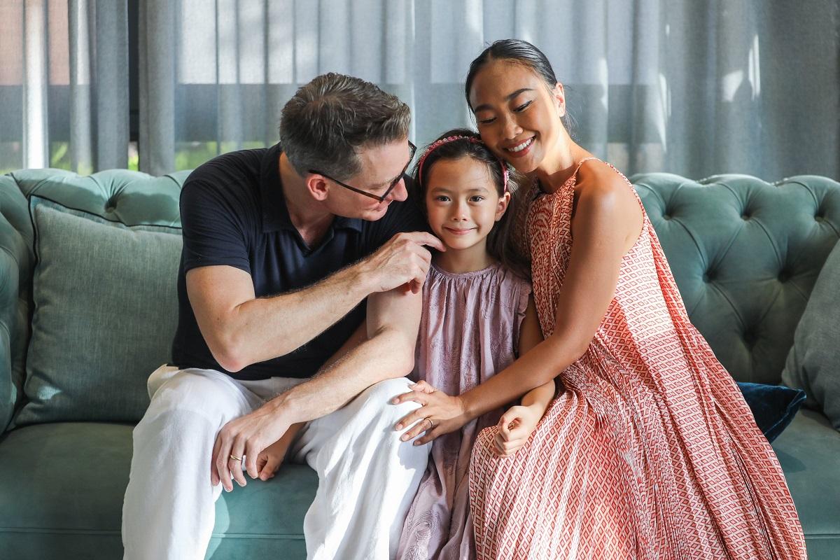 Ca sĩ Đoan Trang và ông xã Johan tự hào khi con gái thừa hưởng năng khiếu âm nhạc từ mẹ.