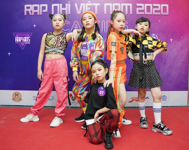 Thí sinh tại một buổi casting chương trình Rap Kids. Ảnh: Fanpage Rap Kids Vietnam.