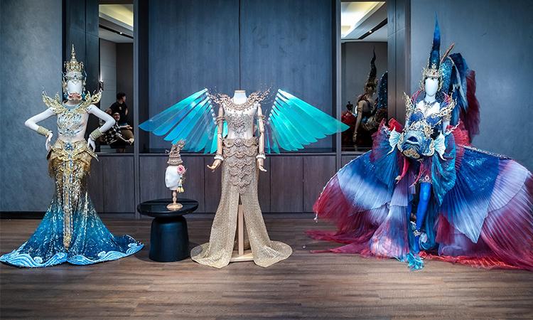 Ba bộ trang phục lọt vào vòng hai cuộc thi bình chọn của Miss Universe Thailand. Ảnh: MUT.