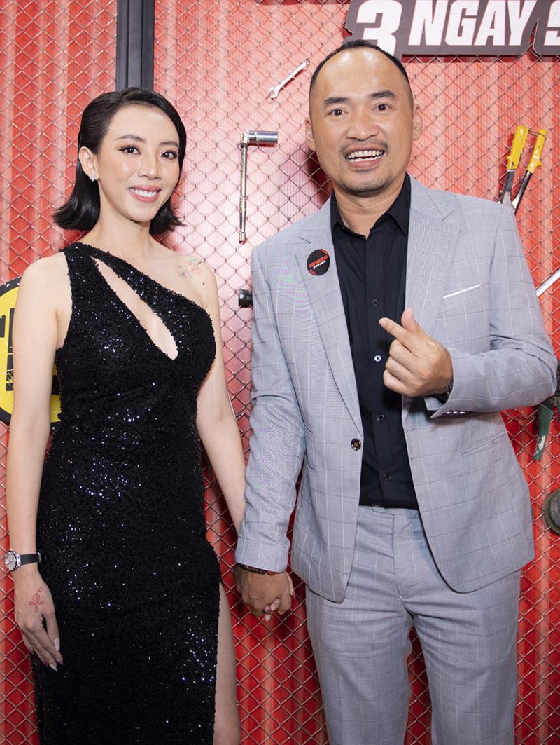 Thu Trang là diễn viên chính kiêm đồng sản xuất phần hai phim điện ảnh Chị Mười Ba. Chị vào vai một bà trùm có biệt hiệu Mười Ba - nhân vật có danh trong giới giang hồ. Năm 2019, phần một - phát triển từ web-drama cùng tên - đạt doanh thu khả quan, thuộc top 10 phim Việt ăn khách nhất với 64 tỷ đồng. Thu Trang lên kế hoạch xây dựng một vũ trụ điện ảnh giang hồ xoay quanh các nhân vật trong phim. Tiến Luật (phải) đóng vai phụ.