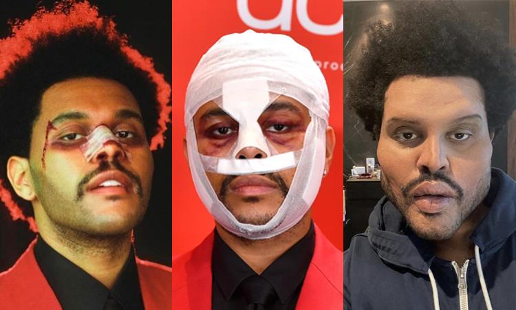 Biến đổi gương mặt The Weeknd qua các MV ca nhạc gần đây. Ảnh: The Weeknd Twitter.