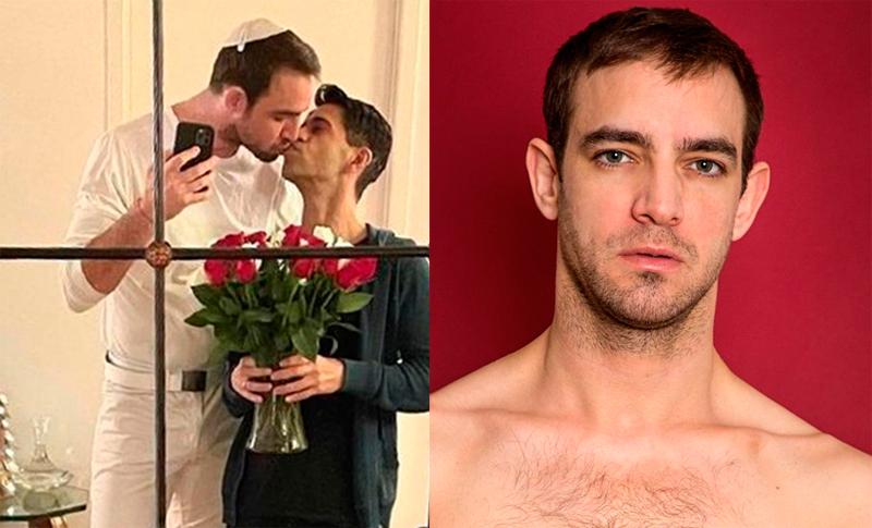 Benjamin Schwartz và người tình đồng giới. Ảnh: Weibo/Benjiamin.