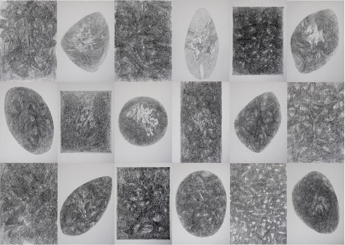 Tác phẩm Thời gian, chất liệu bút sắt trên giấy, kích thước 159 x 238 cm, được họa sĩ Phạm Hùng Anh sáng tác trong năm 2020. Ảnh: Nhân vật cung cấp.