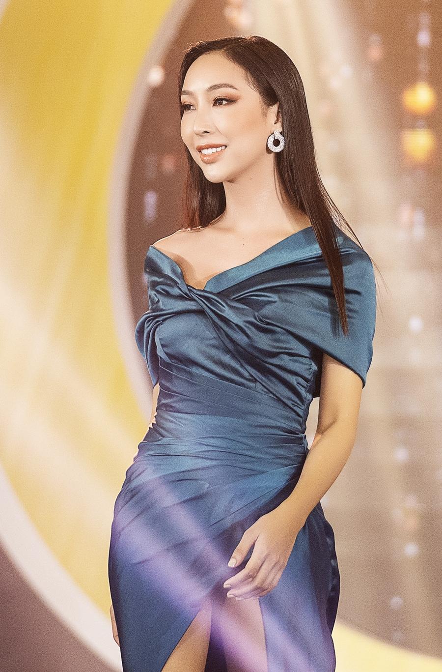 Khánh An là thí sinh duy nhất còn lại của đội Kiều Loan. Cô đến từ Hậu Giang, cao 1,64 m, số đo 83 - 64 - 95 cm.