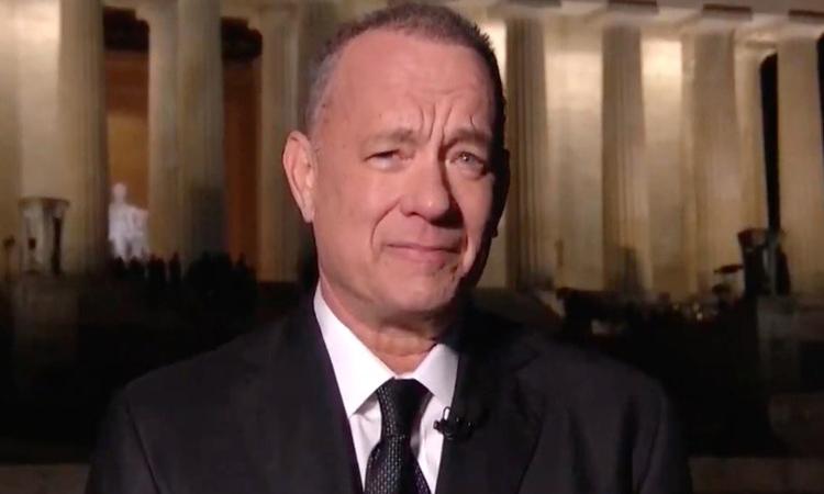 Tom Hanks dẫn chương trình Celebrating America. Ảnh: Handout.