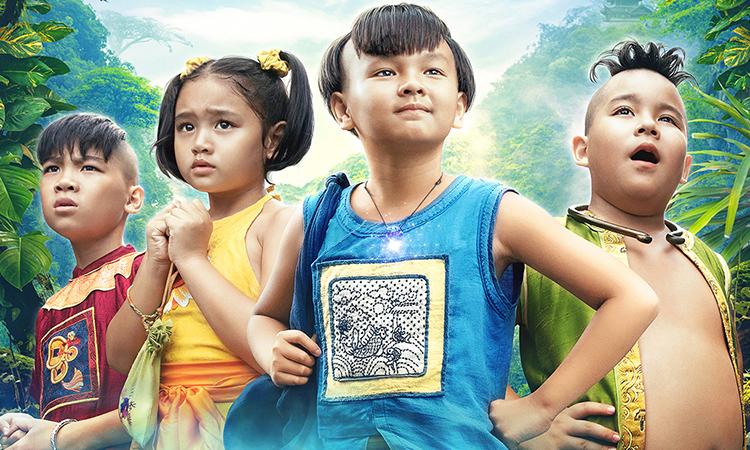 Bốn nhân vật chính trong Trạng Tí. Ảnh: Studio68.