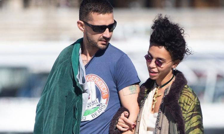Shia LaBeouf (trái) đi chơi cùng FKA twigs tại Paris tháng 9/2018. Ảnh: BBC.