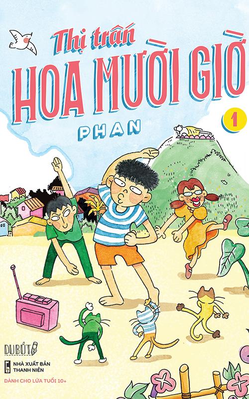 Bìa tập một truyện tranh Thị trấn Hoa Mười Giờ. Ảnh: Du Bút