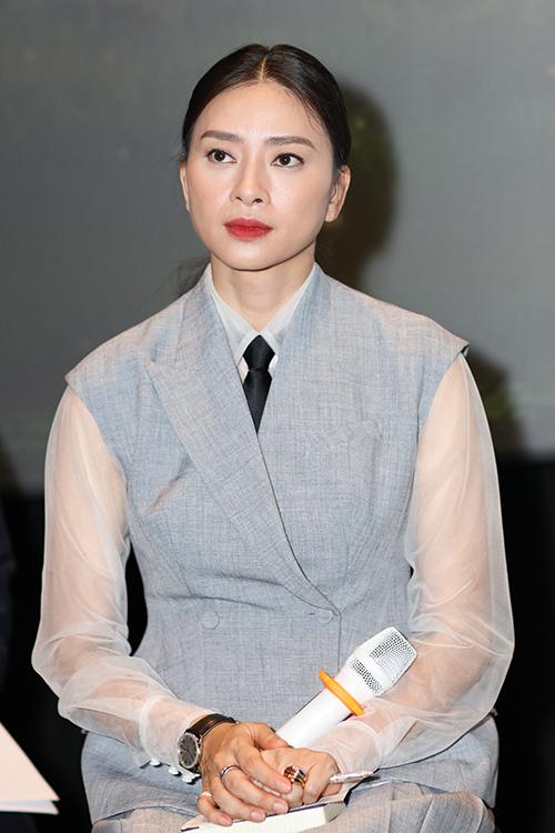 Ngô Thanh Vân trong buổi showcase Trạng Tí chiều 24/1. Ảnh: Bil.