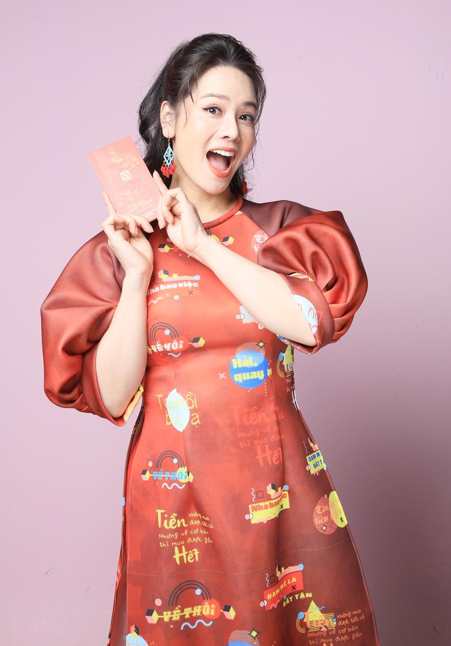 Nhật Kim Anh diện trang phục do Lâm Lâm lên ý tưởng và thiết kế. Ảnh: Nhật Đỗ - Cửu Long studio.