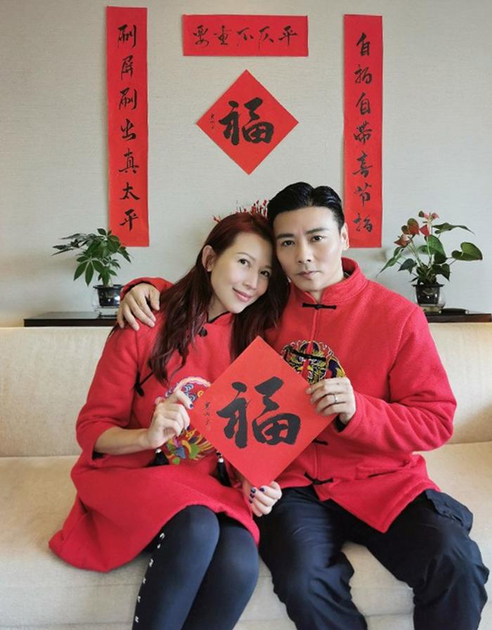 Trên On, vợ chồng Thái Thiếu Phân, Trương Tấn nói lễ Tình nhân năm nay náo nhiệt vì vợ chồng cùng ba con quây quần. Ảnh: On.