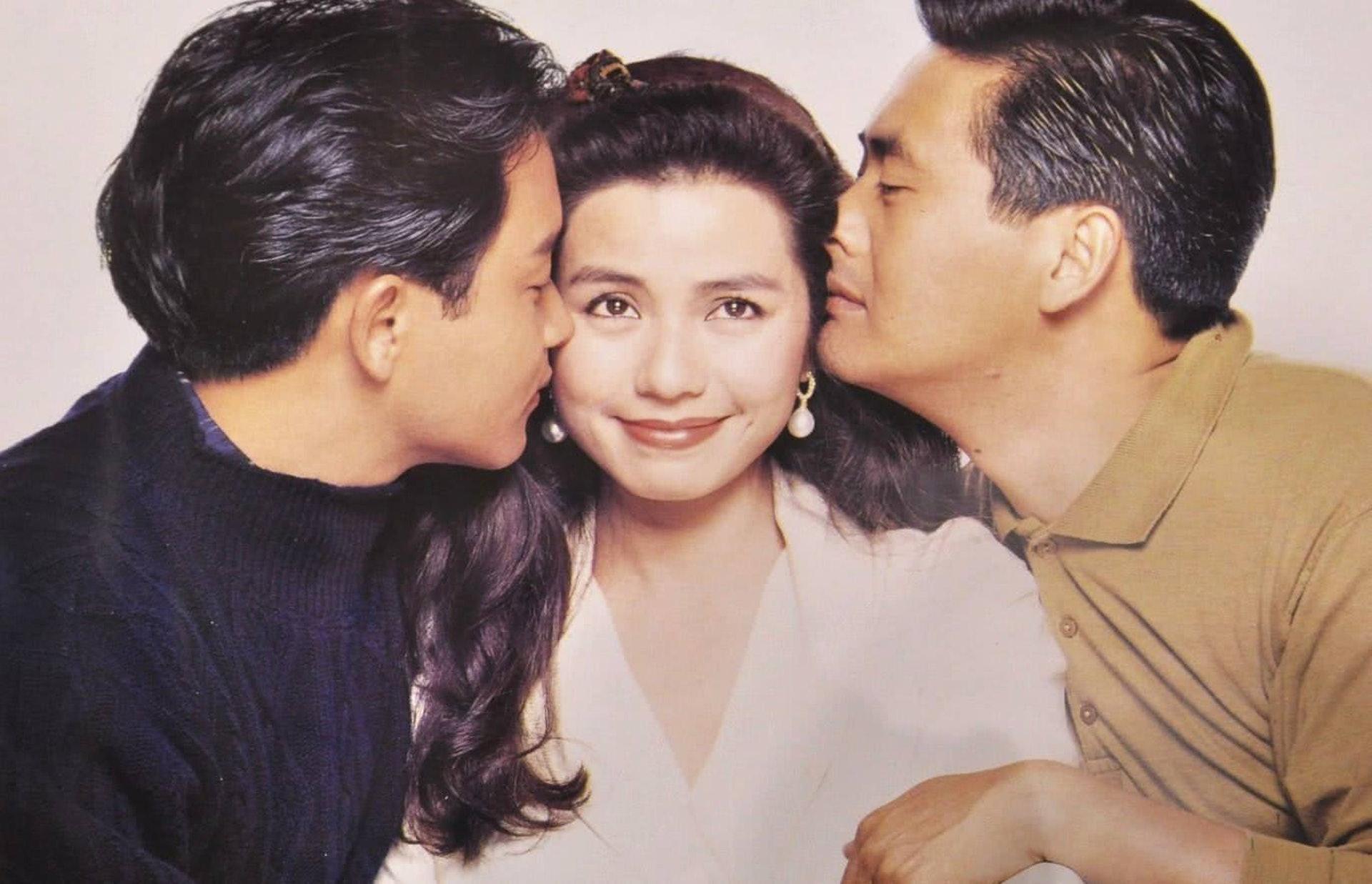 Từ trái sang: Trương Quốc Vinh, Chung Sở Hồng và Châu Nhuận Phát khi đóng Tung hoành tứ hải. Ảnh: HK01.