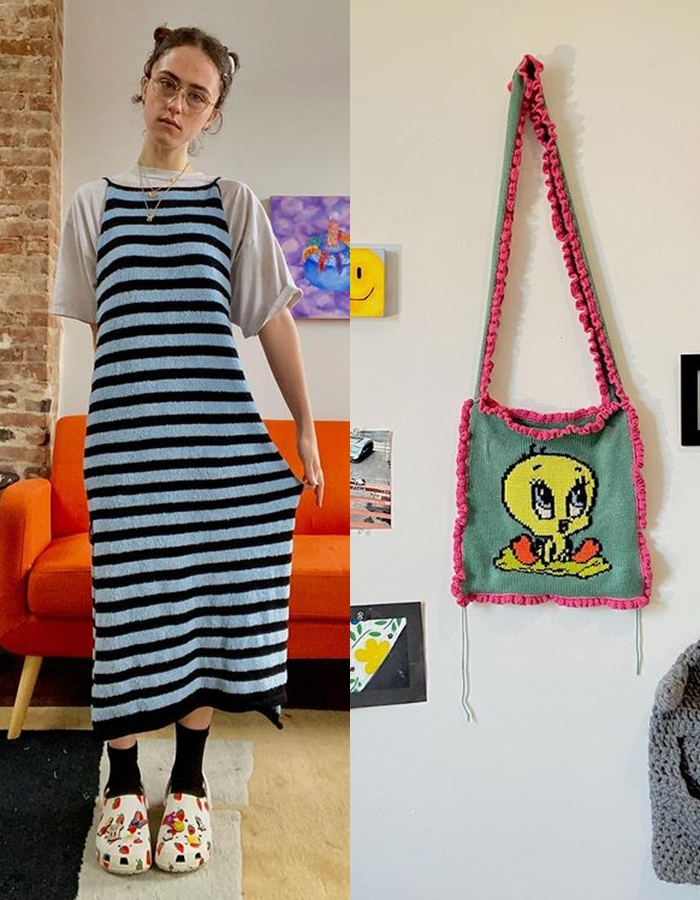 Hai trong số năm thiết kế trong bộ sưu tập của Ella Emhoff được bán hết.