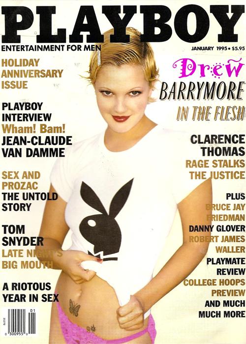 Drew Barrymore chụp ảnh tạp chí người lớn năm 1995. Ảnh: Playboy.