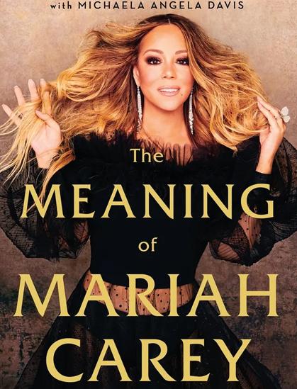 Bìa tự truyện Meaning of Mariah Carey phát hành tháng 9/2020. Ảnh: Andy Cohen Books.