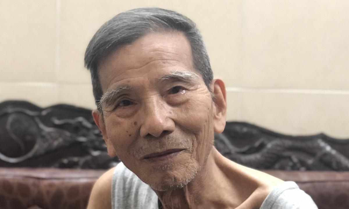 Nghệ sĩ Trần Hạnh ở nhà riêng năm 2019. Ảnh: Hà Thu.