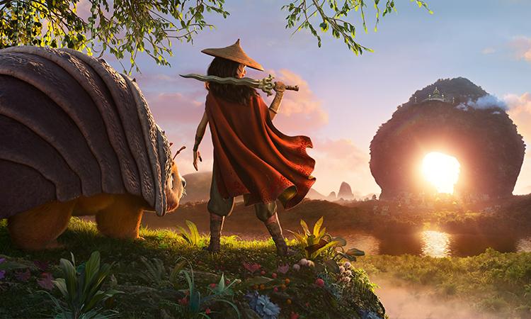 Raya và rồng thần cuối cùng được đa phần giới phê bình quốc tế nhận xét có phần hình ảnh xuất sắc. Ảnh: Disney.