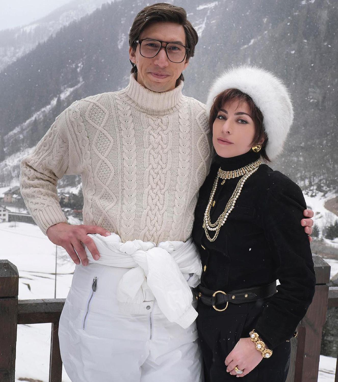 Diện mạo của Lady Gaga và Adam Driver trong House of Gucci.