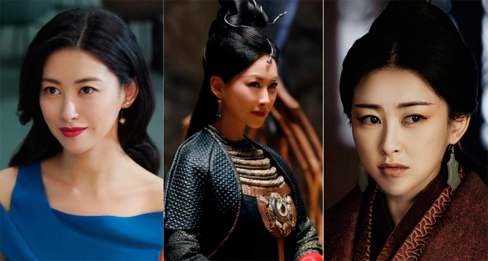 Tạo hình Chu Châu trong Luật sư tinh anh, Lộc Đỉnh Ký và Đại Tần phú (từ trái sang). Ảnh: Youku.