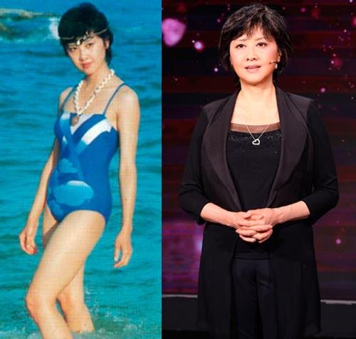 Chu Lâm thời trẻ và khi tham gia chương trình đọc thơ mừng Tết âm lịch 2021 của đài CCTV. Ảnh: Fanpage Zhulin.
