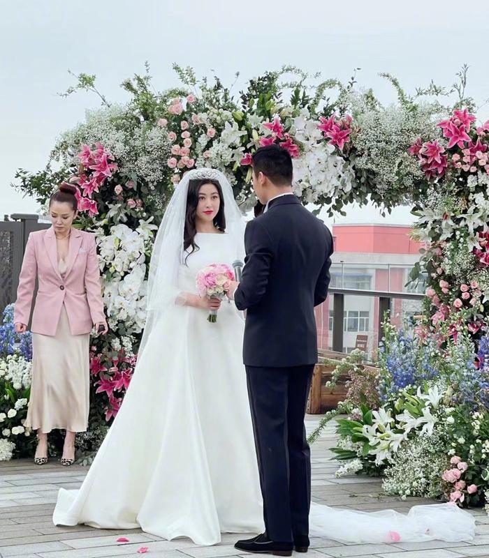Chu Châu ngày cưới. Ảnh: Sina.