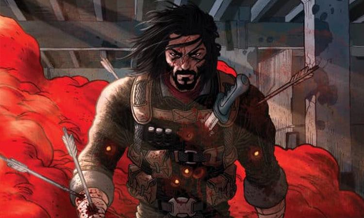 Nhân vật chính Brzrkr lấy cảm hứng từ ngoại hình Keanu Reeves. Ảnh: Boom! Studios.
