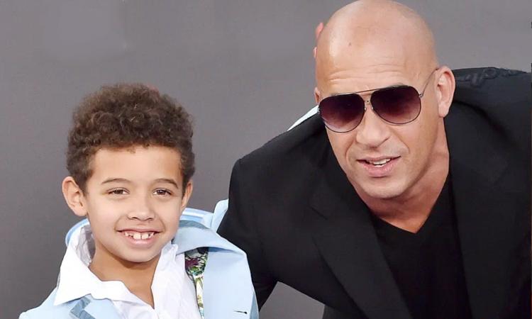 Tài tử Vin Diesel và con trai Vincent (trái). Ảnh: FilmMagic.