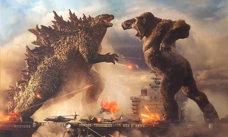 Godzilla vs Kong tập trung nhiều thời lượng cho các cảnh chiến đấu giữa các quái vật khổng lồ. Ảnh: CGV.