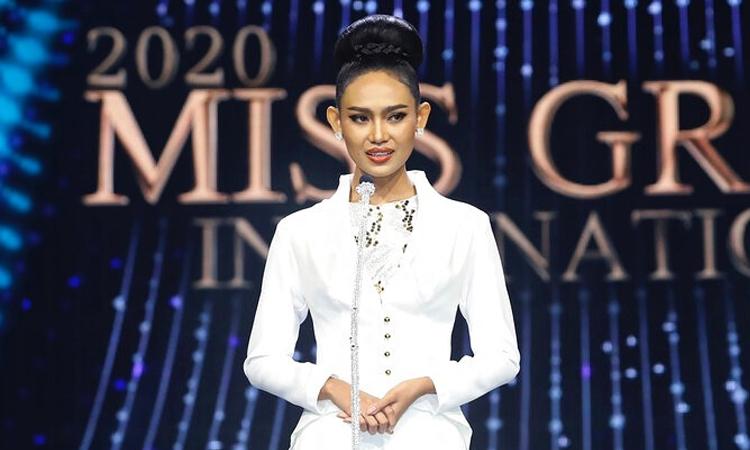 Á hậu Han Lay đại diện Philippines tranh tài tại Hoa hậu Hòa bình Quốc tế 2020. Ảnh: MGI.
