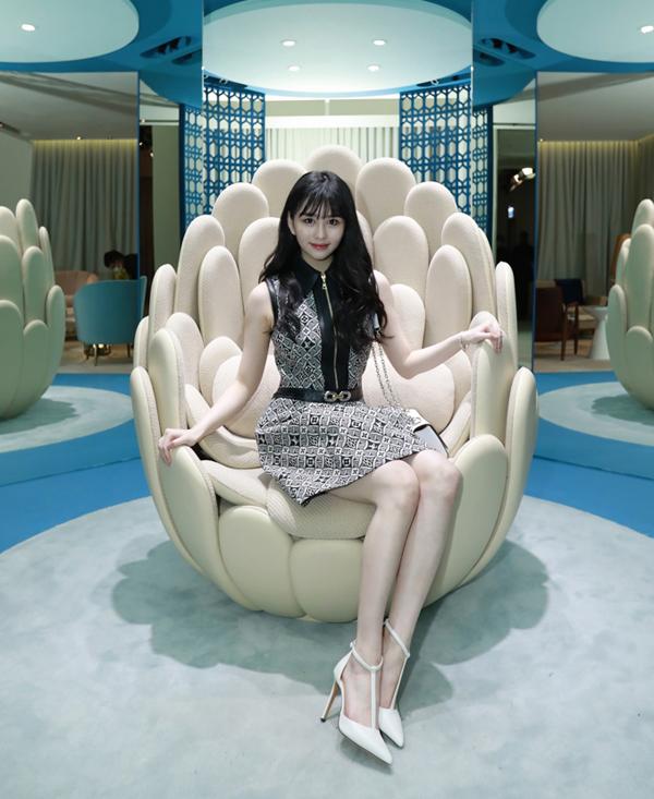 Thẩm Nguyệt dự sự kiện của Louis Vuitton tổ chức ở Hong Kong hôm 27/3.