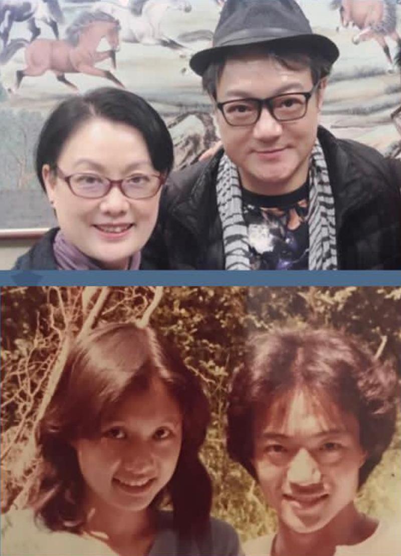 Lỗ Chấn Thuận và Juli hiện tại và 41 năm trước. Ảnh: HK01.