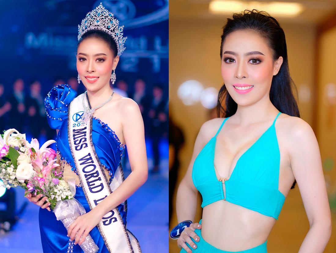 Phongsavanh Souphavady trong chung kết. Ảnh: Miss World Laos.