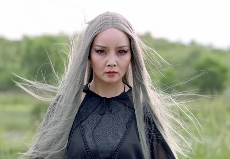 Tạo hình Mai Thu Huyền trong nhân vật Đạm Tiên phim Kiều. Ảnh: Hồng Vi.