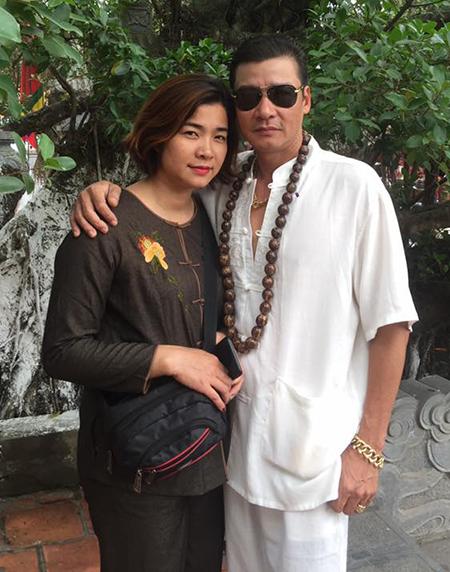 Diễn viên Võ Hoài Nam bên vợ - nghệ sĩ múa Lan Anh. Ảnh: Facebook Nam Võ Hoài.