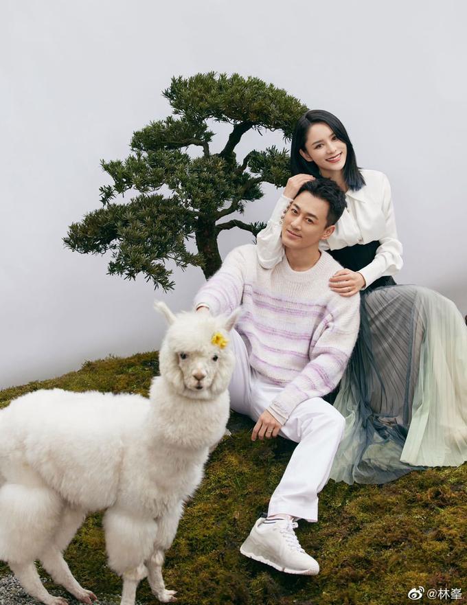 Vợ chồng Lâm Phong. Ảnh: Marie Claire.