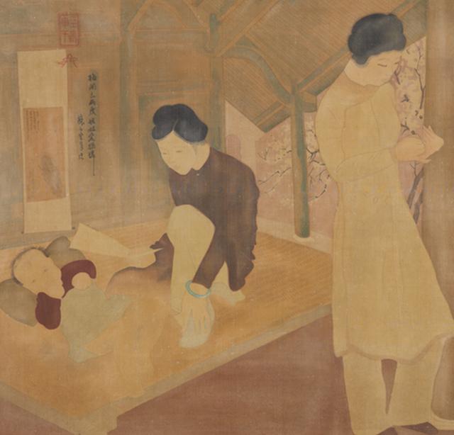 Tác phẩm Lá thư của Tô Ngọc Vân của Sotheby's Hong Kong đấu giá bị cho là tranh giả. Ảnh:Sotheby.