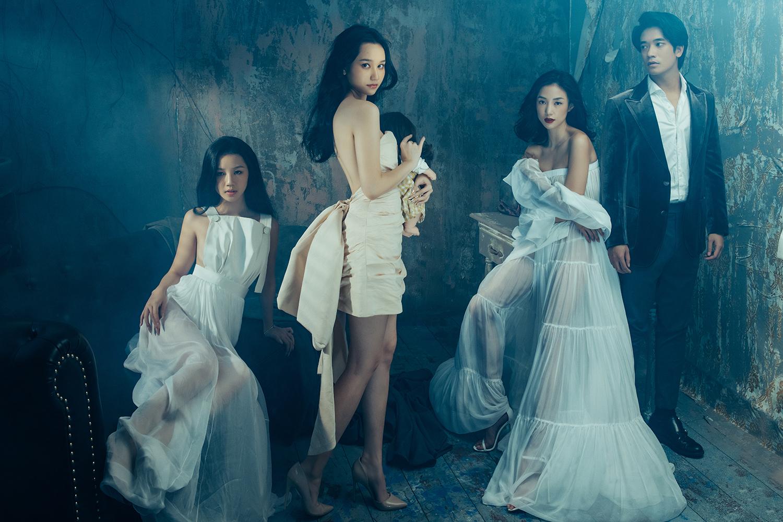 Từ trái qua: Amee, Trúc Anh, Salim, Samuel An - bốn diễn viên của phim. Ảnh: Huy Trần.