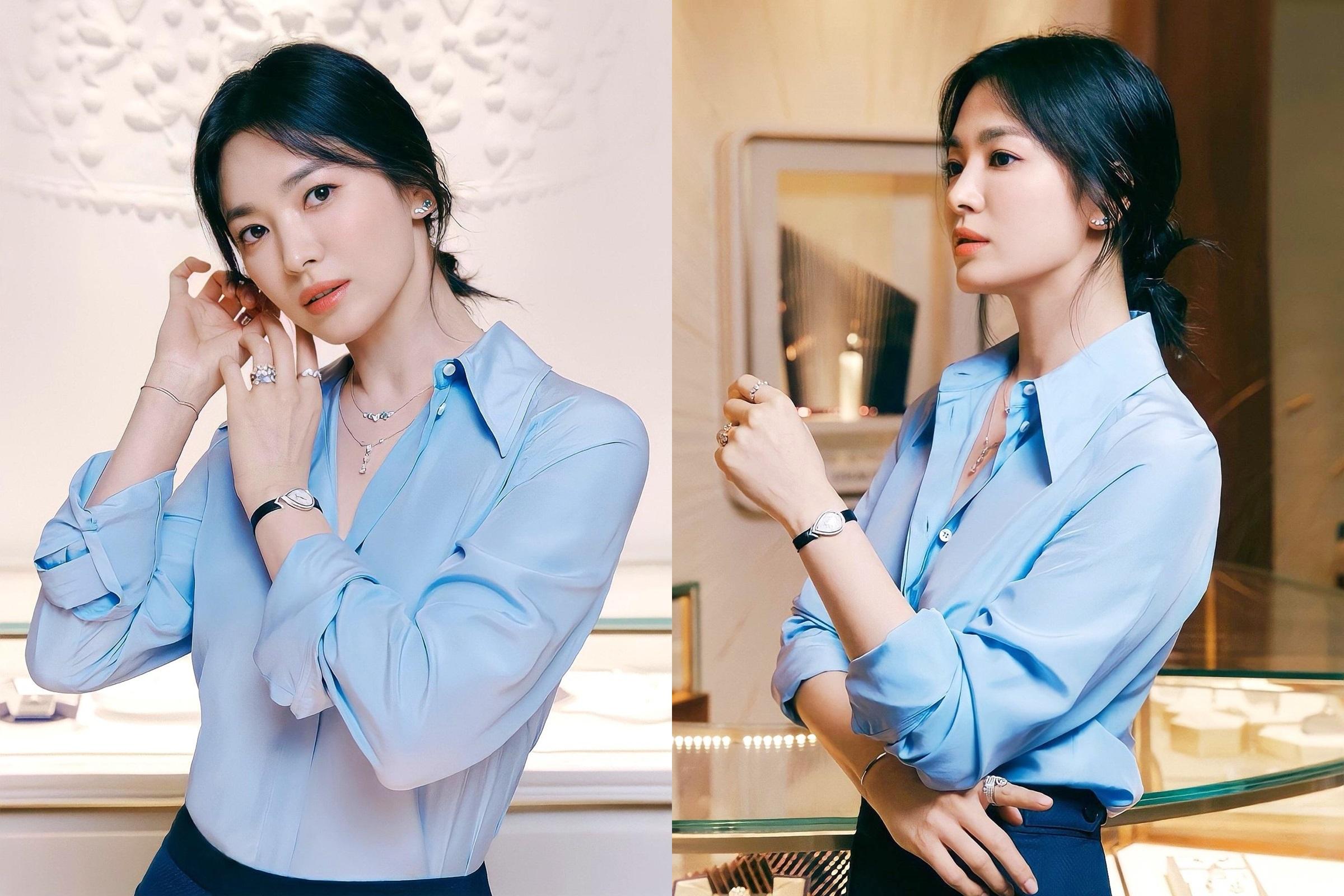 Loạt ảnh mới của Song Hye Kyo cho hãng trang sức. Ảnh: Chaumet.