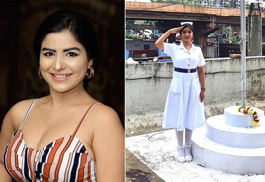 Shikha Malhotra trong vai trò diễn viên, y tá. Ảnh: Newstubeindia/