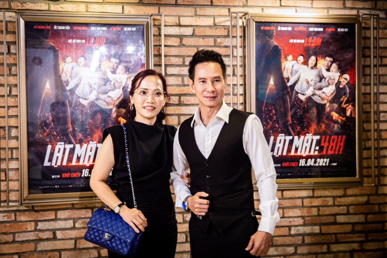Bà Lý Thanh Phong cùng Lý Hải trong buổi ra mắt phim.