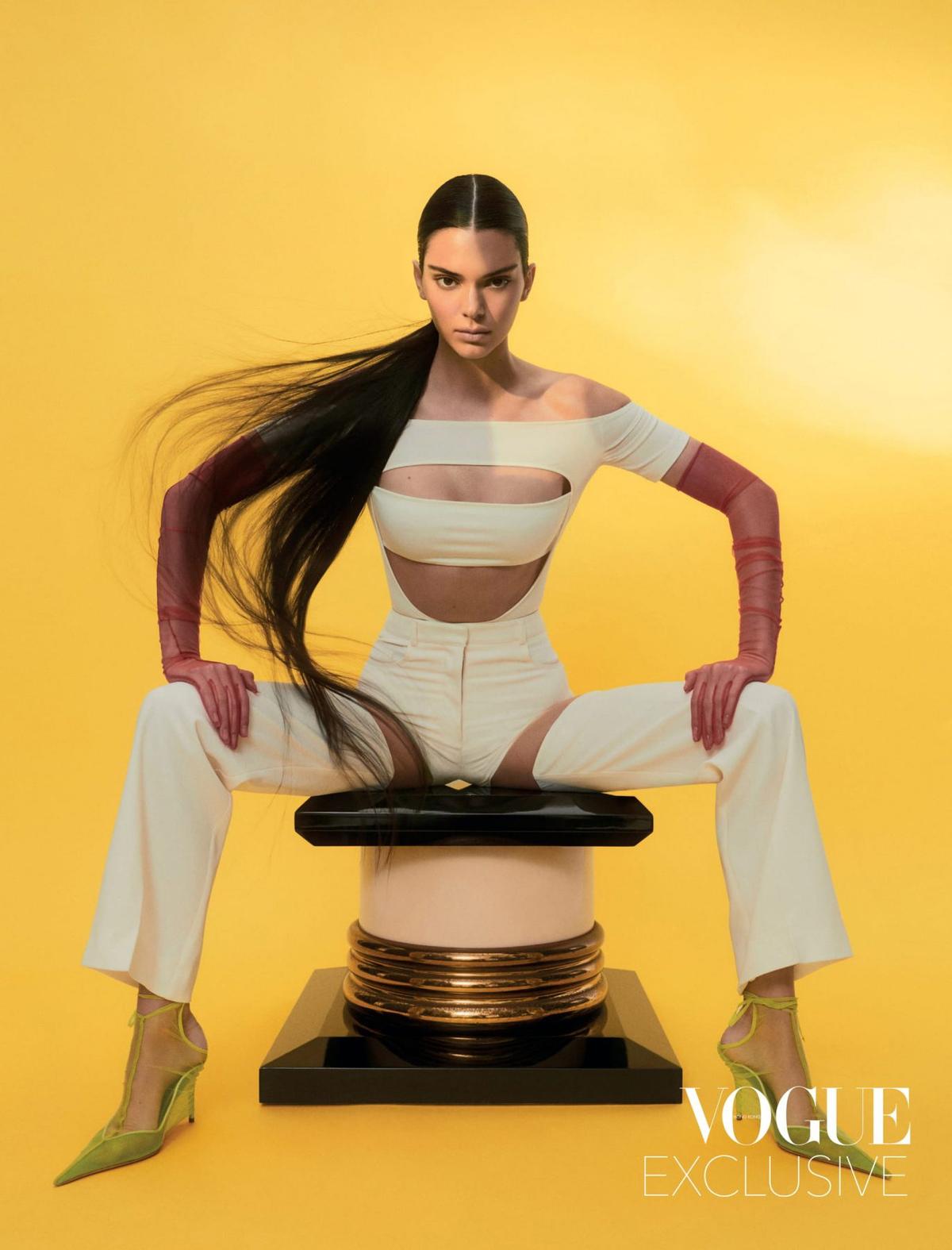 Kendall Jenner trên tạp chí Vogue số tháng 5. Ảnh: Vogue.