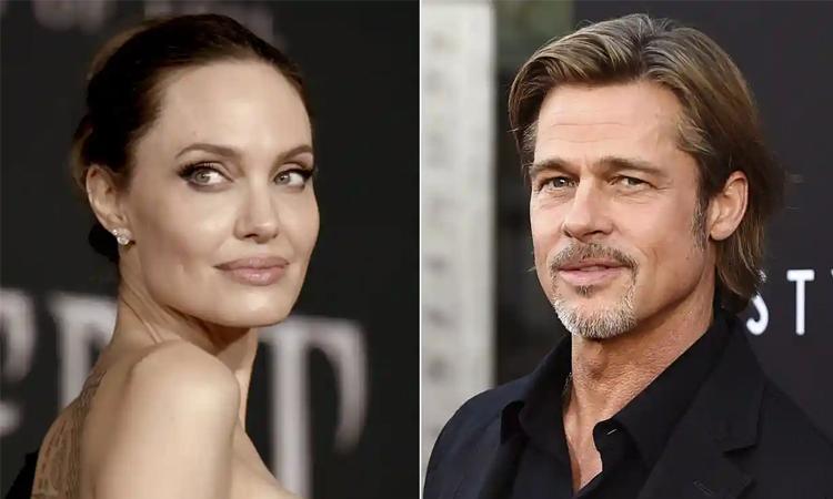 Diễn viên Angelina Jolie (trái) và Brad Pitt. Ảnh AP.