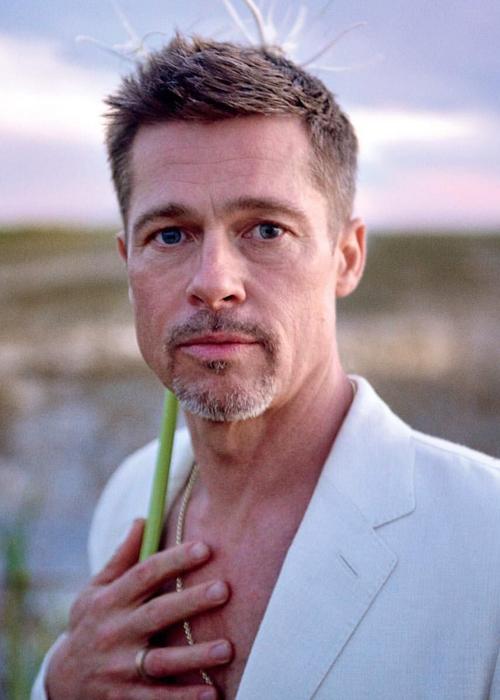 Brad Pitt thừa nhận nghiện rượu trên tạp chí năm 2017. Ảnh: GQ.