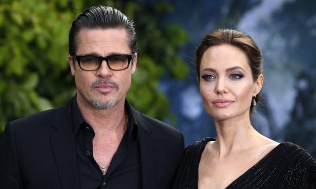 Brad Pitt và Angelina Jolie thời còn là vợ chồng. Ảnh: AFP.