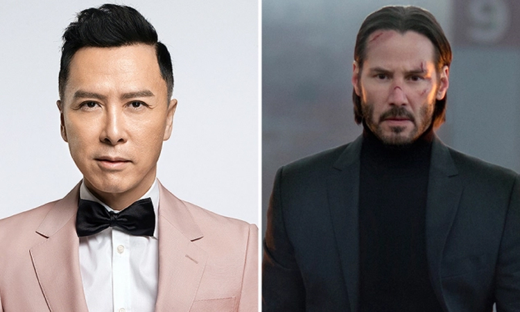 Chân Tử Đan (trái) đóng cùng Keanu Reeves trong John Wick 4. Ảnh: Bullet Films/ Everett.