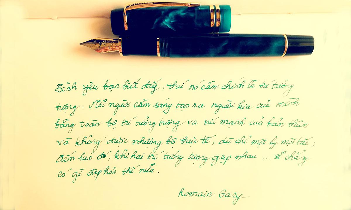 Bản viết tay hoa hậu đăng trên trang cá nhân hôm 27/5. Ảnh: Facebook Nguyen Thu Thuy.