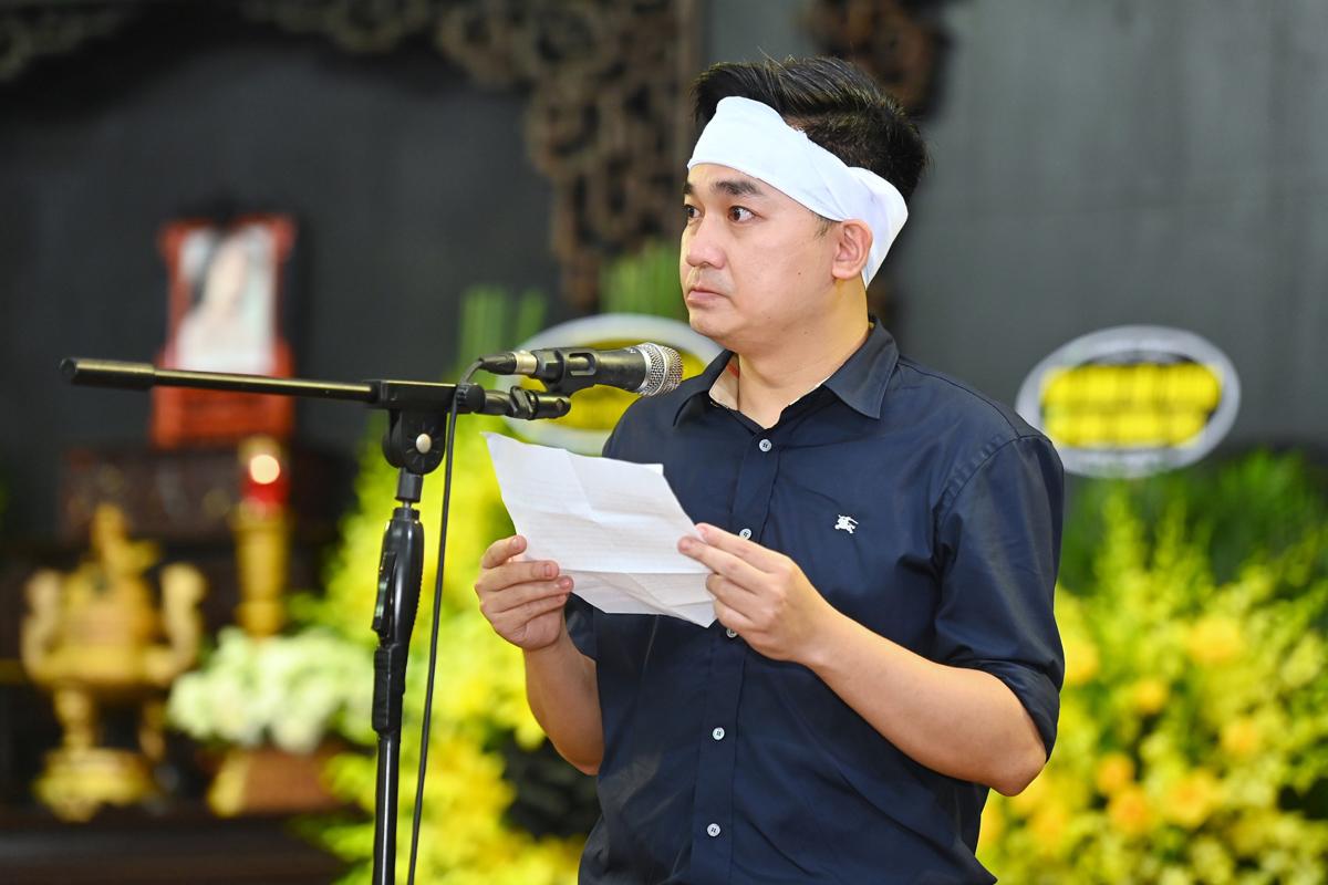 Em trai hoa hậu - anh Mạnh Thắng - đọc điếu văn đưa tiễn chị.